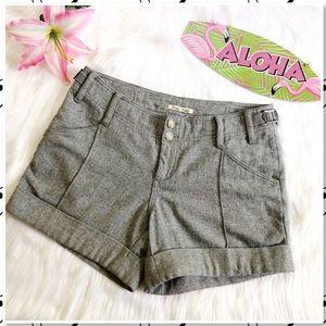 Anthropologie Hei Hei Wool Tailored Cuffed Shorts
